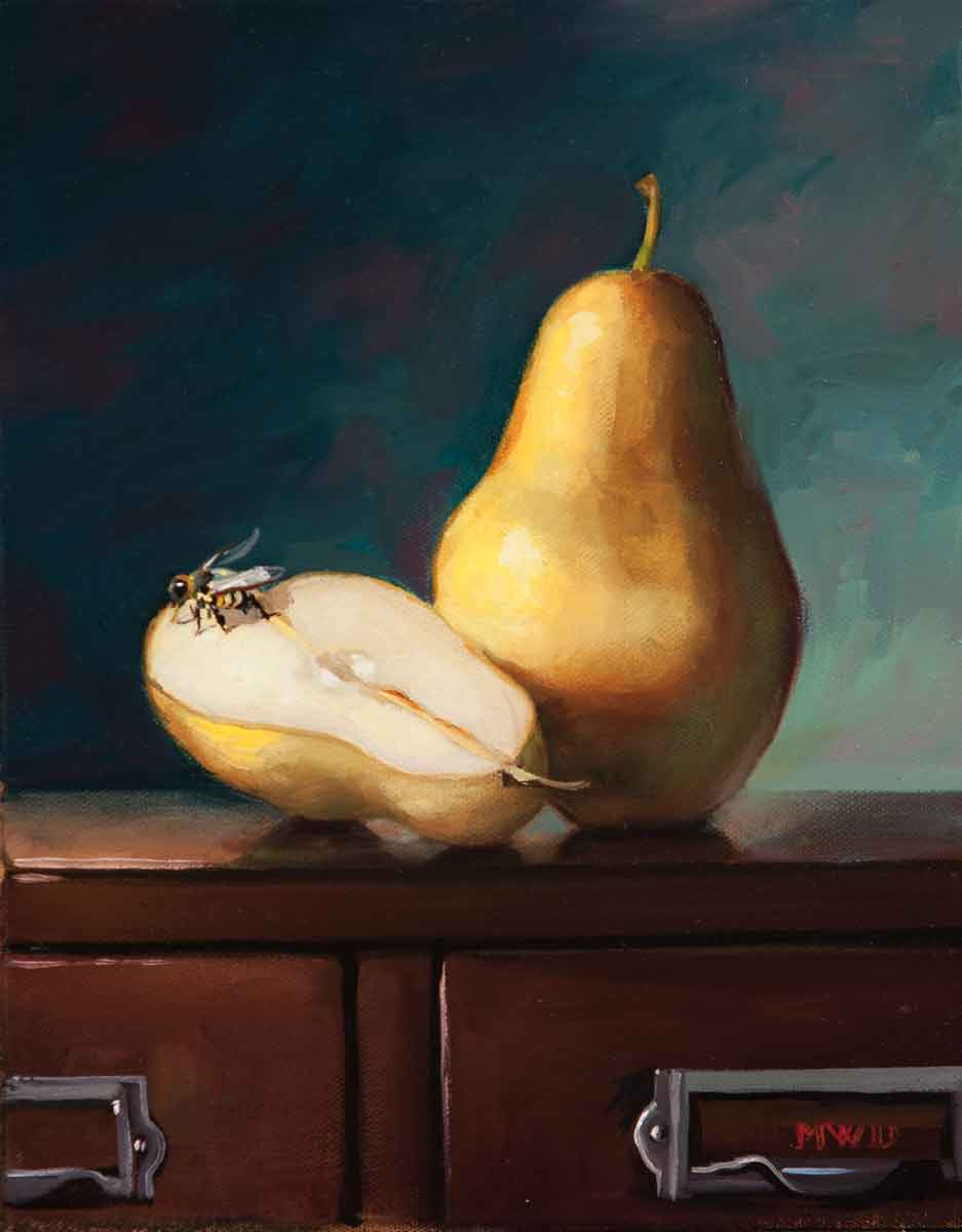 Pears with Bee