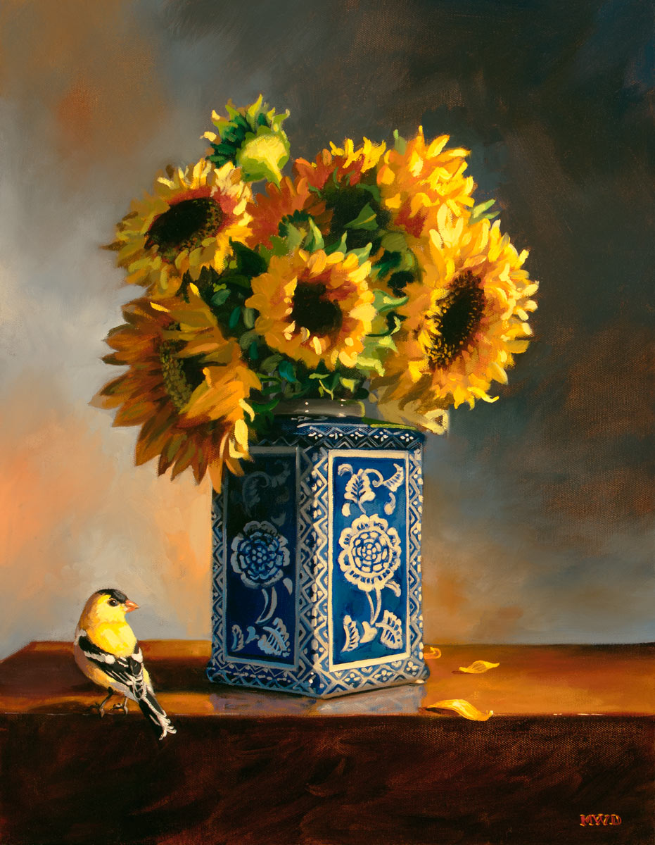 Goldfinch and Sunbursts