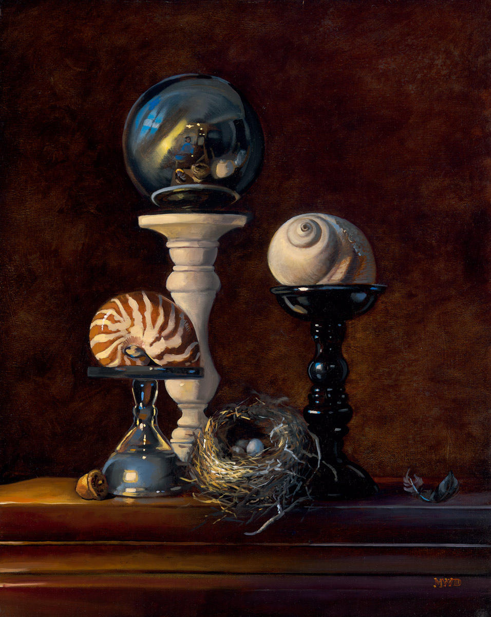 Shells and Nest - 20 x 16 - Oil on Panel