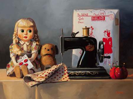Doll and Sewing Machine