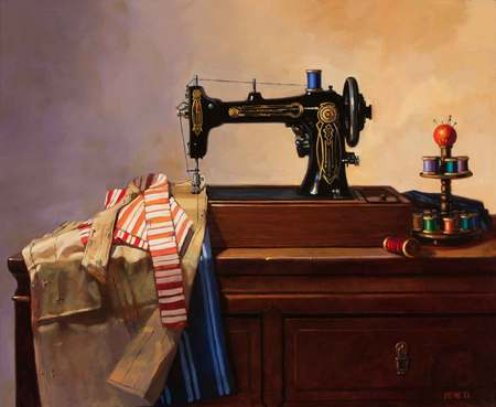 Sewing Machine and Apron